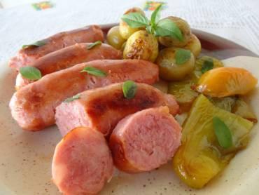 linguica-ao-forno-com-batatas
